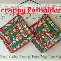Scrappy Potholders Tutorial - Seasonal Sewing Series