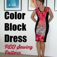 Color block dress pattern - POTM