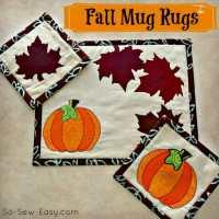 Autumn or Fall mug rug pattern