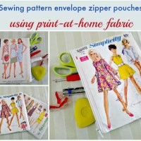 Vintage sewing pattern printable fabric purse
