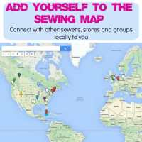 Make new sewing friends locally with the sewing map