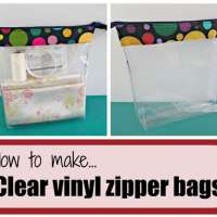 How to make clear vinyl zipper bags