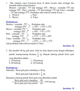 Pembahasan ujian nasional matematika 2007