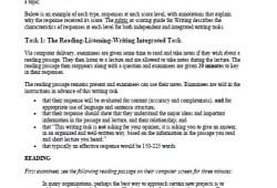 TOEFL® iBT Writing Sample Responses