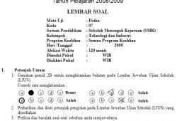 Soal Ujian Akhir Sekolah SMK 2009