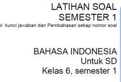 Soal Latihan Bahasa Indonesia Kelas 6 SD Semester 1