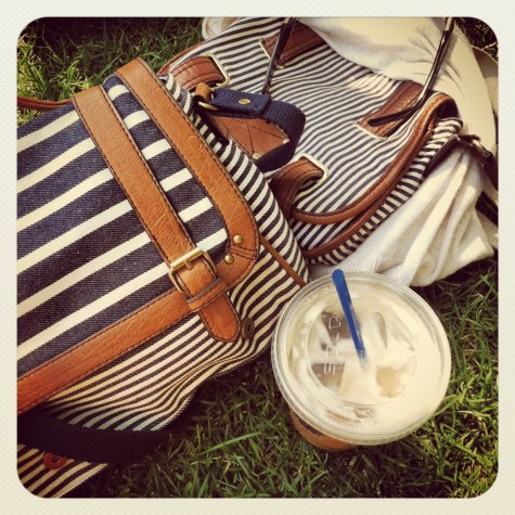 striped nautical bags