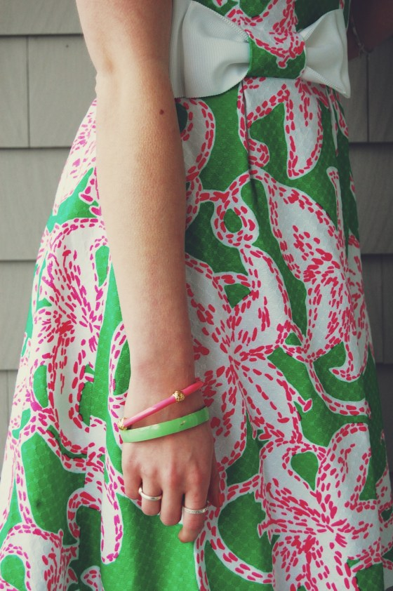 pink and green bangle bracelets