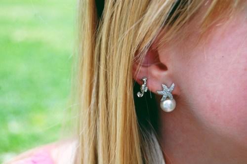 seahorse starfish earrings