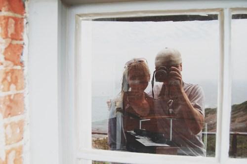 lighthouse reflection photo