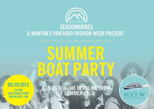 jack wills summer boat party martha's vineyard