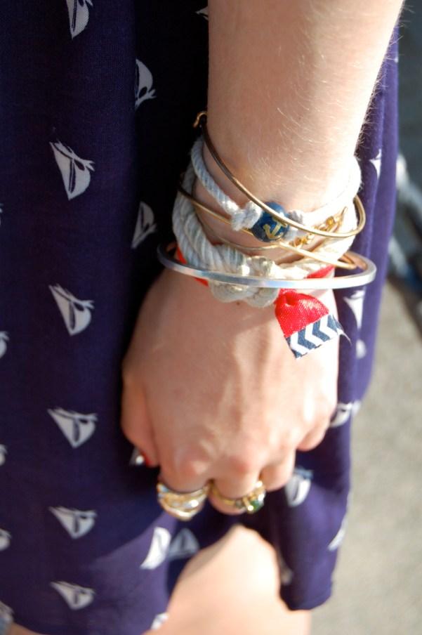 nautical bracelets arm party