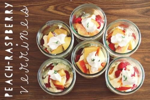 Peach-Raspberry Verrines with Lemon-Thyme Cream