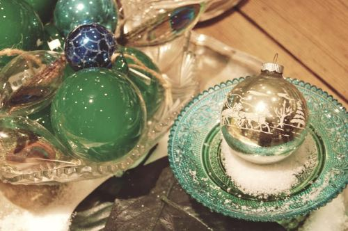 Anthropologie Glass Ornaments