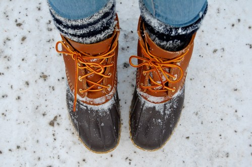 Bean Boots + Socks