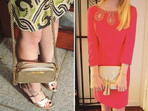Lilly Pulitzer Gold Handbags