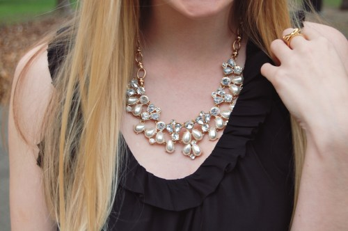 Pearl + Rhinestone Statement Necklace
