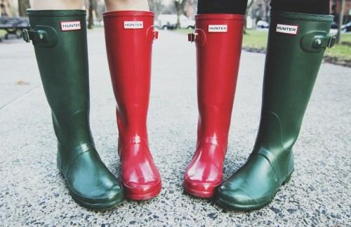 Christmas Rain Boots