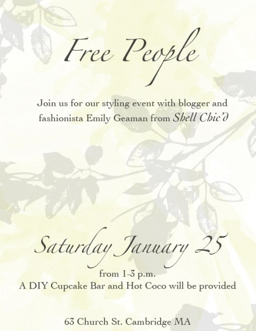 Free People Harvard Square Event