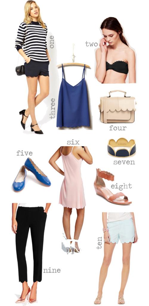 Spring Scallop Fashion Trend
