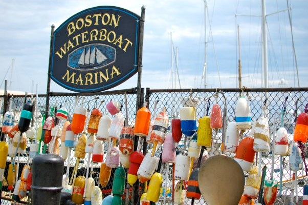 Boston Harbor buoys photo