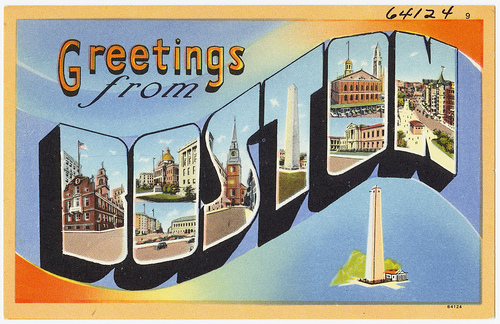 Vintage Boston Postcard