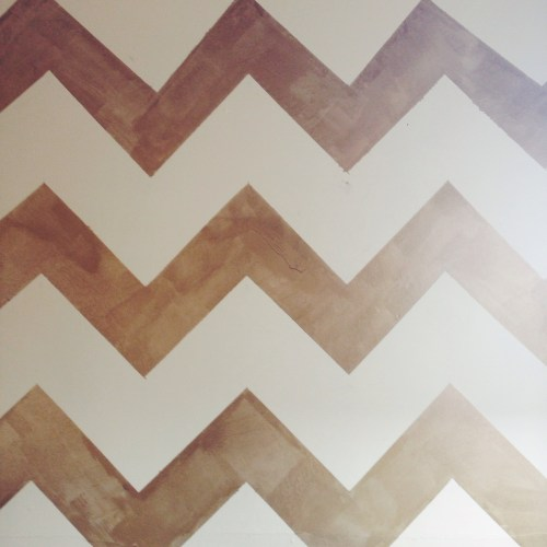 How To: Gold Chevron Wall Paint