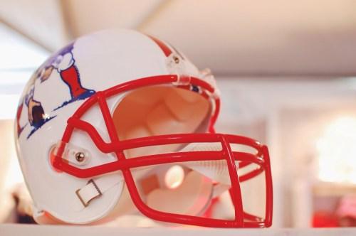Patriots football helmet