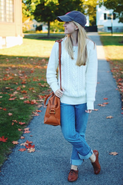 FIsherman Sweater; Boyfriend Jeans
