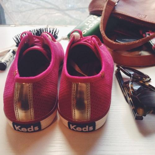 Gold Pink Keds
