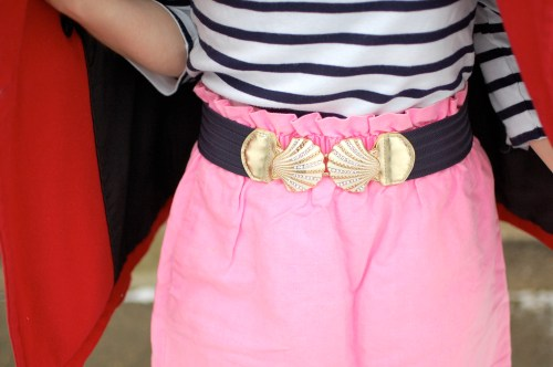 Navy Shell Belt