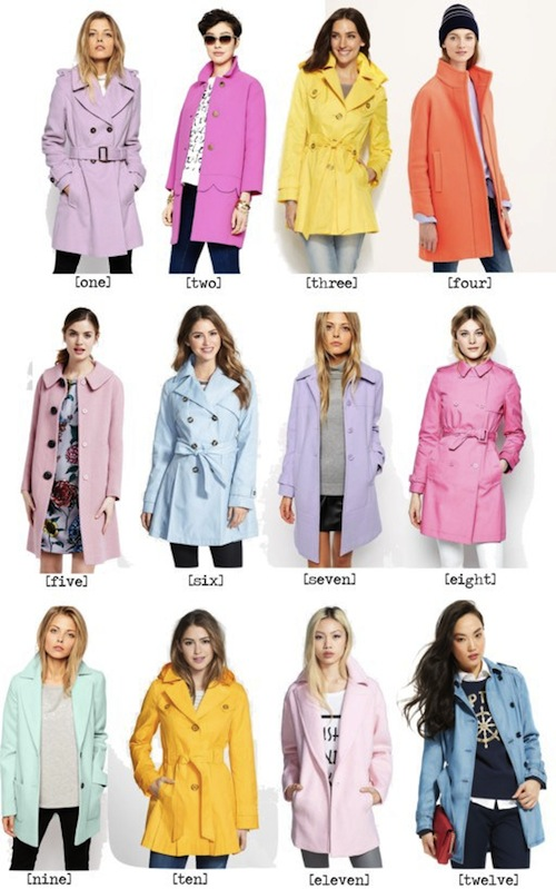 Colorful Coats for Spring