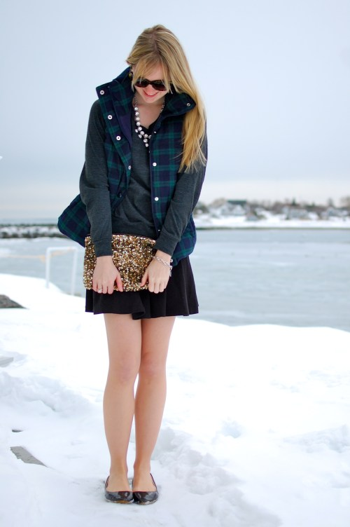 chic comfy winter outfit