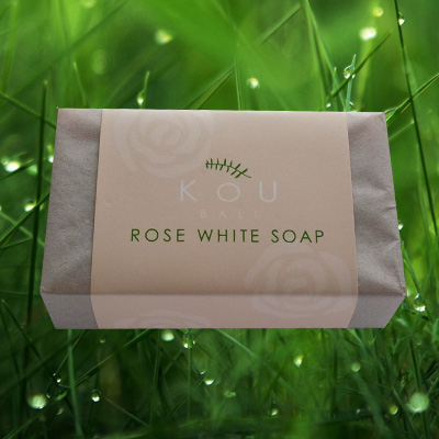 kou soap bali rose white