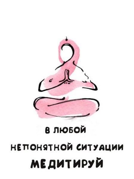 в любой непонятной ситуации медитируй