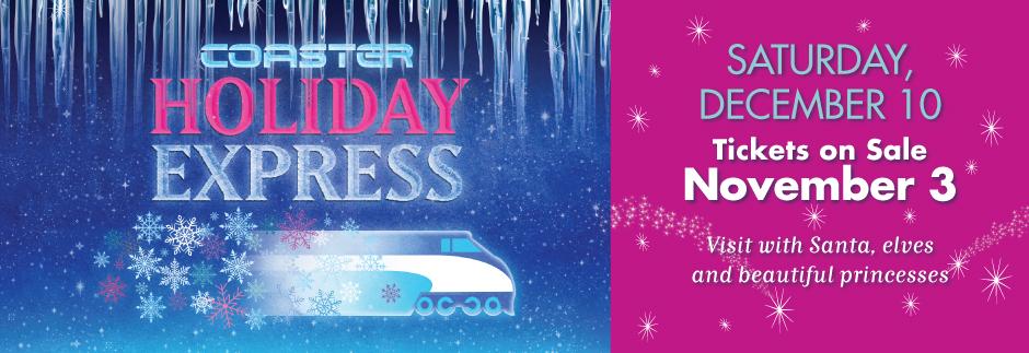 Coaster Holiday Express, Ride the Train with Santa 2016