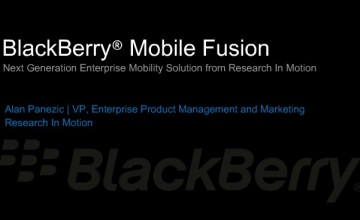 RIM Offers Android, Apple Security With BlackBerry Mobile Fusion - BlackBerry Mobile Fusion, RIM Android security, RIM Apple security, RIM BlackBerry
