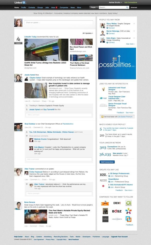 linkedin-redesigns-homepage-design
