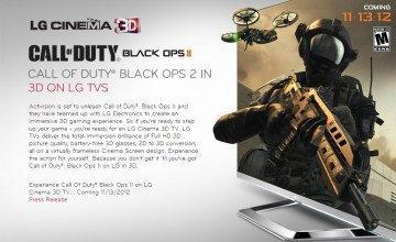 'Call of Duty: Black Ops II' on LG Cinema 3D TVs Showcase Gaming's Latest