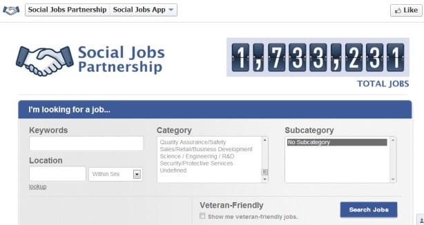 Facebook Unveils Social Jobs App
