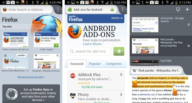 Firefox for Android Now Supports ARMv6 Smartphones