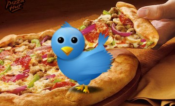 Pizza Hut is offering 10 dollar any pizza exchanges for unwanted gifts through Twitter. (Image: via sparksheet.com)