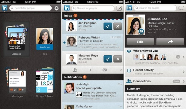 LinkedIn for iPhone