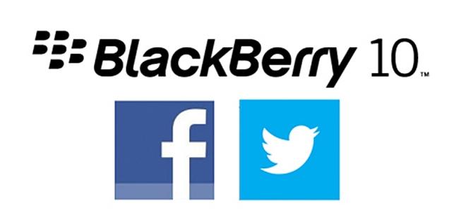 BlackBerry, Twitter, Facebook,