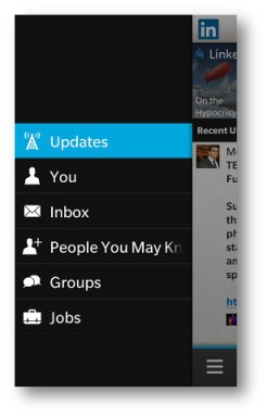 BlackBerry 10 Twitter Enhanced Menu