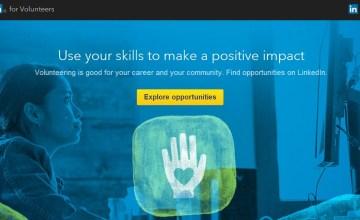 linkedin for volunteers -- volunteer marketplace