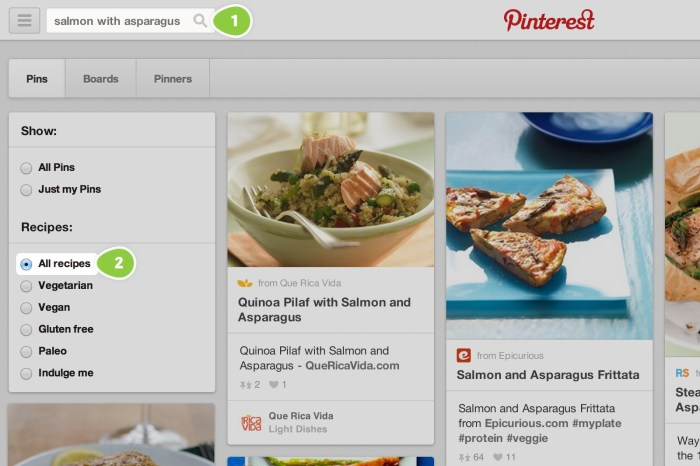 pinterest search tools for recipe pins
