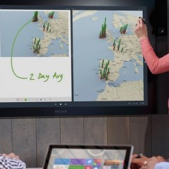 """Microsoft Will Sell 84"""" and 55"""" Surface Hub This Year"""