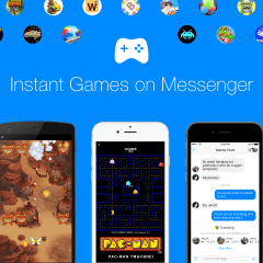 Facebook brings Pac-Man, Space Invaders and other Instant Games to Messenger