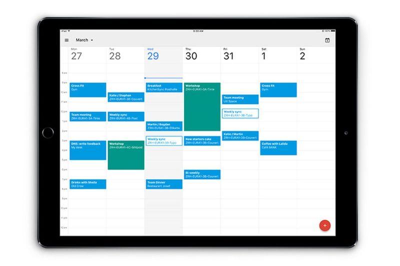 Google Calendar for iPad